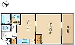 フジパレスヒサホ[1階]の間取り