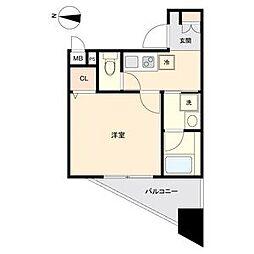 ディアレイシャス新栄 9階1Kの間取り