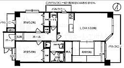 ヴェルデサコート桜ヶ丘 - Aタイプ[5階]の間取り