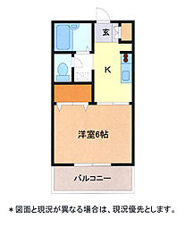 埼玉県幸手市南3丁目の賃貸アパートの間取り