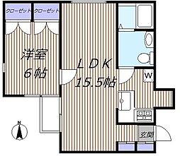 シーズ藤沢[2階]の間取り