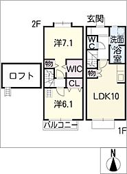 [タウンハウス] 愛知県名古屋市西区比良3丁目 の賃貸【/】の間取り