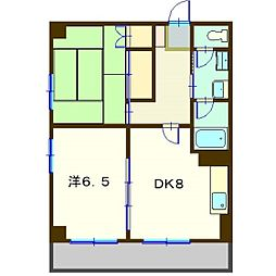 ラポートホーム[401号室]の間取り