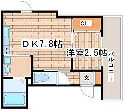 兵庫県神戸市長田区御船通3の賃貸マンションの間取り