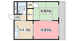 第二平木マンション[302号室]の間取り