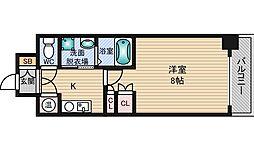 エステムヒルズ新大阪[8階]の間取り