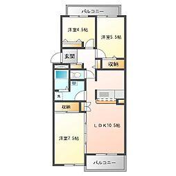 CAPITALマンション志木[3階]の間取り