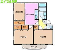 ソレイユ 9[1階]の間取り