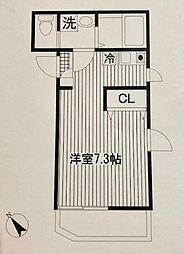 平川共同住宅[102号室]の間取り