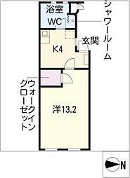 藤ヴァレイ II[2階]の間取り