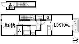 クリスタルメゾン2[2階]の間取り