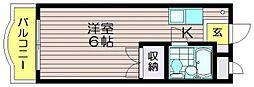 ゴールドファイブ成城[106号室]の間取り