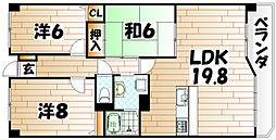 シャトレ諏訪町[4階]の間取り