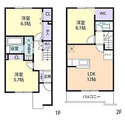 仮)熊倉町テラスハウス[2階]の間取り