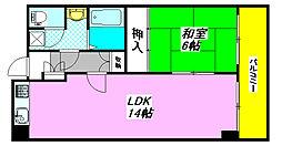 クオリティ・小阪501号室[5階]の間取り