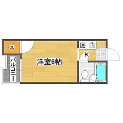 リバティ住之江[3階]の間取り