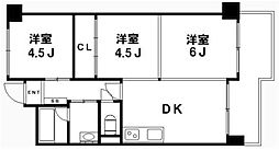 パレットマンション[6階]の間取り