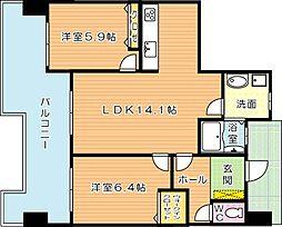 アースコートジュエラ黒崎[5階]の間取り