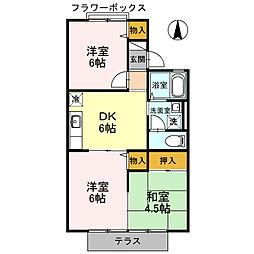 プリシェールK I棟[1階]の間取り