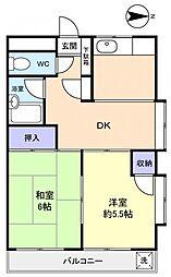 ハイムワセダ[4階]の間取り