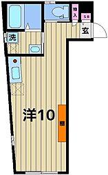 ラ・フォート北千住 3階ワンルームの間取り