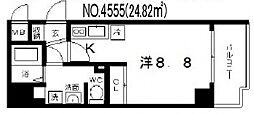 大阪府大阪市天王寺区逢阪1丁目の賃貸マンションの間取り
