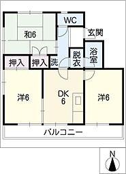 葵3号館[1階]の間取り