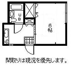 瀬尾ハイツ[B号室]の間取り