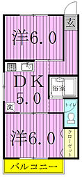パレーシャル松ヶ丘[2階]の間取り