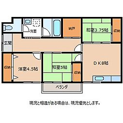 羽場崎アパートB[1階]の間取り