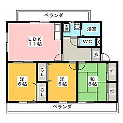 エスペランサ[1階]の間取り