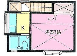 東初富6丁目アパート[2階]の間取り