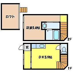 [テラスハウス] 北海道札幌市北区北十八条西6丁目 の賃貸【北海道 / 札幌市北区】の間取り