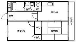 平成ハウス[0201号室]の間取り