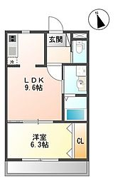 バス 琉大付属病院前下車 徒歩3分の賃貸マンション 1階1LDKの間取り