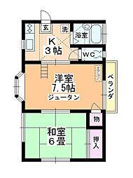 サンシティ上福岡[202号室]の間取り