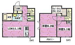 [テラスハウス] 広島県広島市安芸区瀬野西3丁目 の賃貸【/】の間取り
