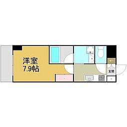 名古屋市営名港線 六番町駅 徒歩5分の賃貸マンション 2階1Kの間取り