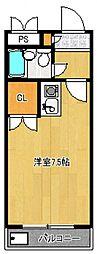 煉瓦館87[102号室号室]の間取り