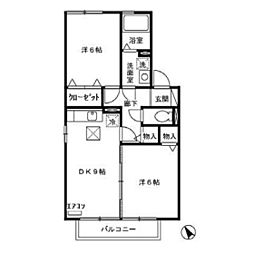 カプチーノE[1階]の間取り