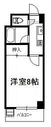 柳丸コーポ[北408号号室]の間取り