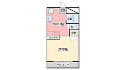 コスモハイツI[105号室]の間取り