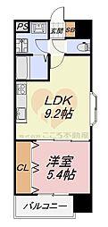 グランメゾンピア 5階1LDKの間取り