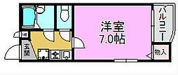 大阪府堺市堺区寺地町東3丁の賃貸マンションの間取り