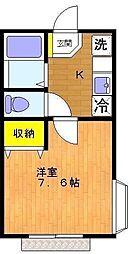 神奈川県川崎市麻生区細山3丁目の賃貸アパートの間取り