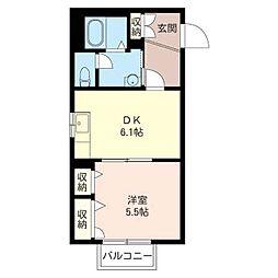 サイレントアベニュー[1階]の間取り