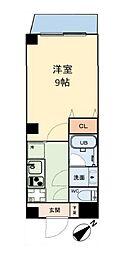 グリュックメゾン本田 6階1Kの間取り