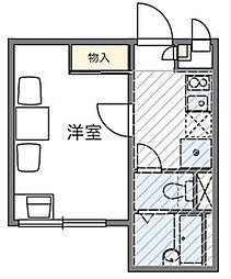 東京都大田区池上2丁目の賃貸アパートの間取り