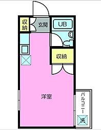 カトレアマンション[203号室]の間取り