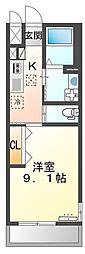 高松琴平電気鉄道琴平線 太田駅 徒歩8分の賃貸アパート 2階1Kの間取り